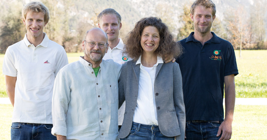Die Familie Sanoll. René, Martin, Dominik, Conny und Günther Sanoll